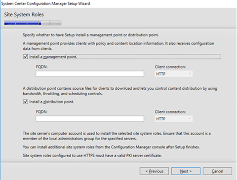 Installing System Center Configuration Manager 1606
